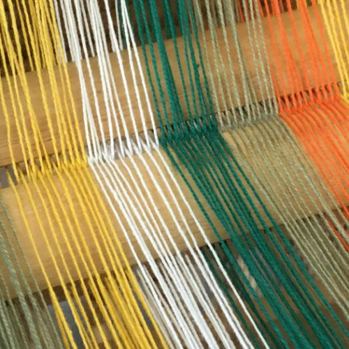 Colour triangle: warp yarns inspired by Goethe and Albers