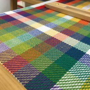 Colour triangle: a handwoven sampler inspired by Goethe and Albers