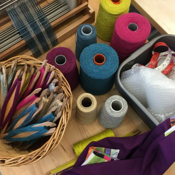 Weaving with wool: supplies for Dundee Design Festival