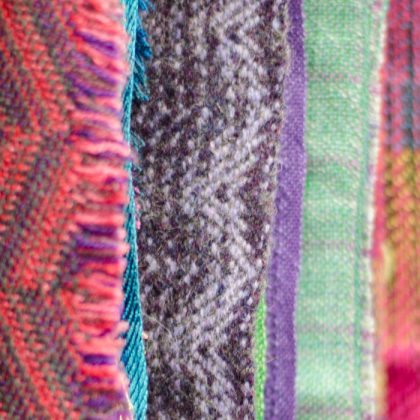 Handwoven fabric samples