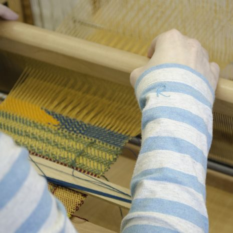 Weaving at a taster workshop