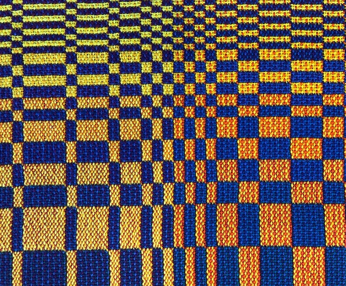 sample of double woven blocks